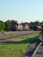 WSOR 4008 and 4003 in front of roundhouse